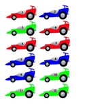 Classroom Management: Student Numbers Using Race Cars