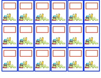 Classroom Management- Student Organization Pocket Chart Cards