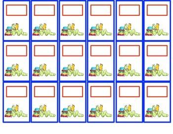 Classroom Management- Student Organization Pocket Chart Cards