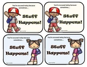 Classroom Management: Stuff Happens Freebie