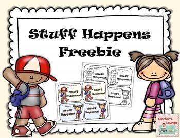 Classroom Management: Stuff Happens Freebie