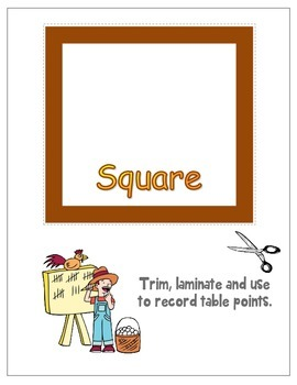 FREE Classroom Management Table Points & Geometric Shapes