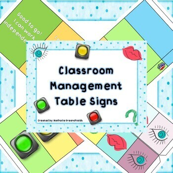 Classroom Management: Table Signs