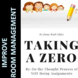 Classroom Management Taking a Zero Form and Follow Up