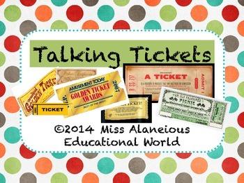 Classroom Management ~ Talking Tickets!