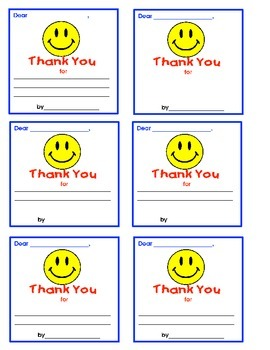End of Year- Thank You Cards & Flipbook