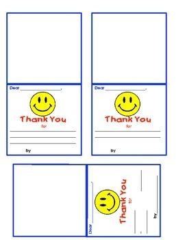 Classroom Management- Thank You Cards & Flipbook