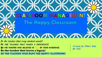 Classroom Management ~ The Happy Classroom ~ Expectations