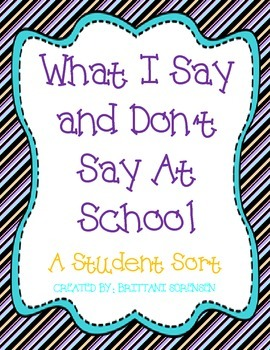Classroom Management: Things I Say & Don't Say at School S