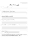 Classroom Management: Think Sheet Behavior Form