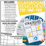 Classroom Management Tic-Tac-Toe | Plan | Game