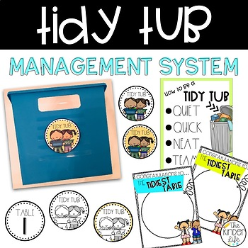 Classroom Management Tidy Tub Labels and Award Posters