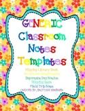Classroom Management Time Saver! - Generic Classroom Notes Templates