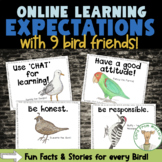 Online Learning Expectation Cards - Classroom Management Tips