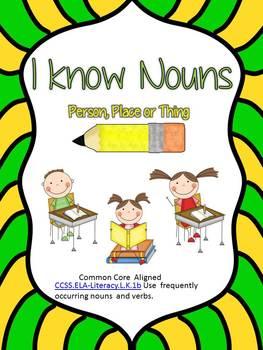 I know Nouns: A Mini Packet on Nouns
