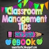 Classroom Management Tips~Mel D Style (Ebook)