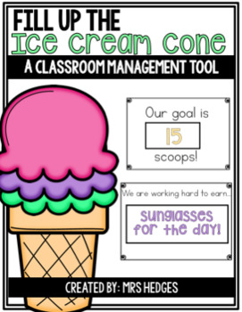 Classroom Management Tool: Fill Up the Ice Cream Cone