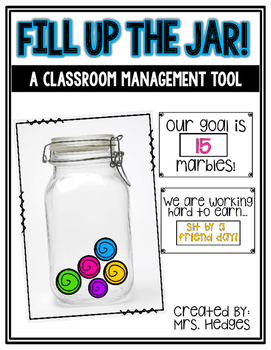 Classroom Management Tool: Fill Up the Marble Jar