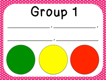 Classroom Management Tool: Group Stoplight Posters