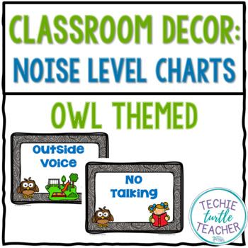 Classroom Management Tool - Owl Noise Level Charts