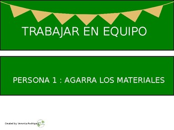 Table Jobs for Collaborative Group Work (Spanish Version)