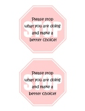 Classroom Management Tool: Stop Signs