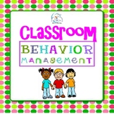 Behavior Management Tools | Back to School Behavior Manage