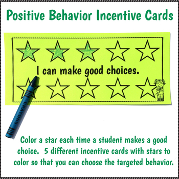 Classroom Management Tools Star Cards
