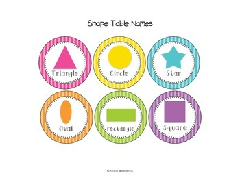 Classroom Management Tools- Table Names, Table Points, Subject Posters