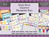 Classroom Management Tools- Table Names, Table Points, Sub