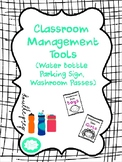 Classroom Management Tools {Water Bottle Parking Lot sign