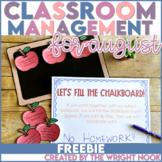 Classroom Management Tools for August