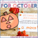 Classroom Behavior Management Tools for October