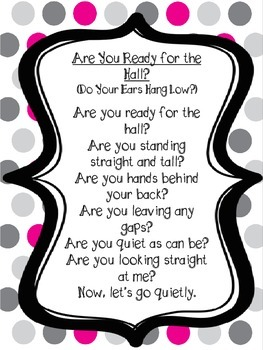 Classroom Management & Transition Chants Freebie