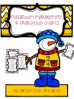 Classroom Management & Transition Chants Posters