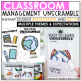 Classroom Management Unscramble | Game | Plan
