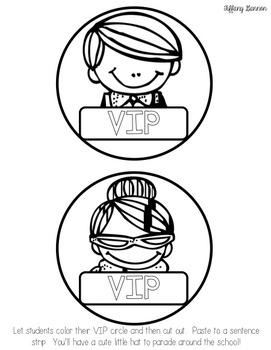 Classroom Management VIP Table FREEBIE