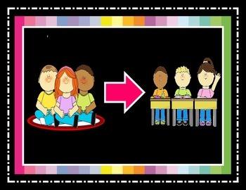 Classroom Management Visual Aide: Transitions Lifesaver!
