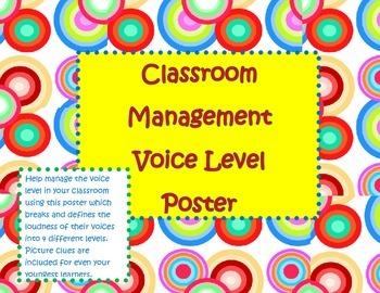 Classroom Management Voice Level Poster