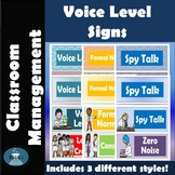 Classroom Management Voice Level Signs for Science