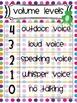 Classroom Management Volume Level Charts frog bright chevron dot stripe