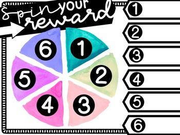 Classroom Management Wheel for Rewards
