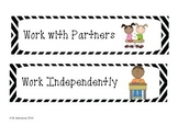 Classroom Management Work Expectations Posters / Cards