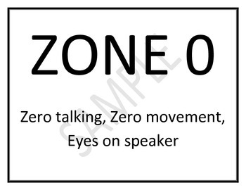 Classroom Management - Zones Black and White