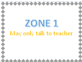 Classroom Management - Zones for Small Group Blue and Orange