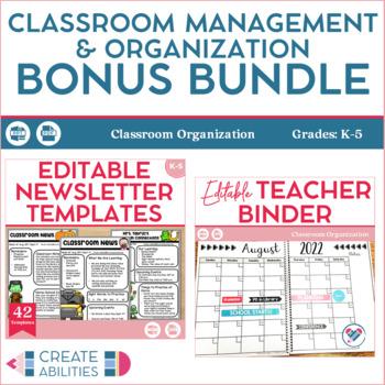 Classroom Management and Organization Bonus Bundle