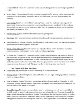 Classroom Management and Reward System - 30 Good Days