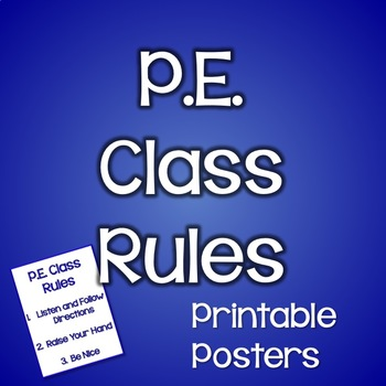 Classroom Management for Art, Music, and PE Teachers~PE Class Rules Poster