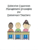 Classroom Management for First Year Teachers