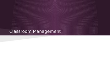 Classroom Management for Student Teachers Education Professions
